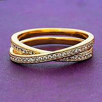 Кольцо женское позолота ХР 1212. Размер 20