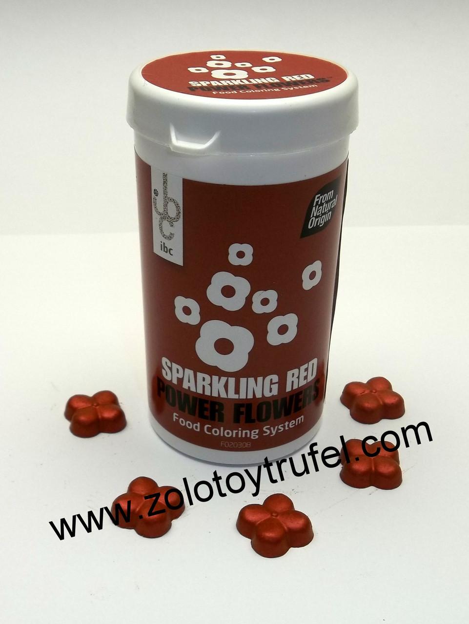 "Краситель для шоколада ""Блестящий красный"" 1 шт. Power Flower Sparkling Red"