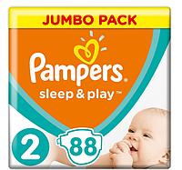 Підгузники дитячі Pampers Sleep&Play Mini 2 (3-6 кг) Jumbo Pack 88 шт