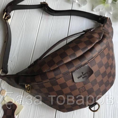943371fe4d88 Напоясная сумка-бананка Louis Vuitton Люкс, нагрудная сумка Луи Витон, сумка  от луи, сумка суприм