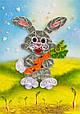 Объемный квиллинг «Зайчик с морковкой», фото 2