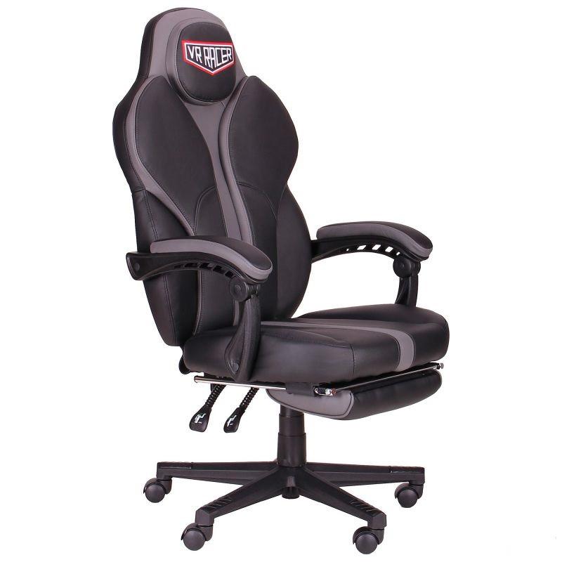 Геймерское кресло VR Racer Edge Napa черный/серый, TM AMF