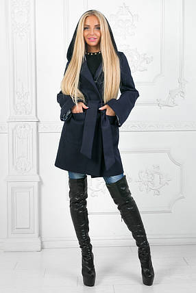 """Женское демисезонное кашемировое пальто """"Елизавета"""" с карманами и капюшоном (3 цвета) , фото 2"""