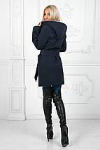 """Женское демисезонное кашемировое пальто """"Елизавета"""" с карманами и капюшоном (3 цвета) , фото 3"""