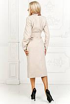 """Женское кашемировое пальто на запах """"Ирина"""" с контрастной отделкой (4 цвета), фото 3"""