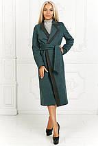 """Женское кашемировое пальто на запах """"Ирина"""" с контрастной отделкой (4 цвета), фото 2"""