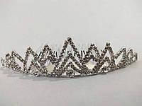 Діадема (корона, тіара) на гребінці, довжина 9 см, висота 2,8 см, фото 1