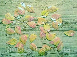 Паєтки листочок бежевий перламутр 2,5х1,5см, 20шт. (РТ-030)
