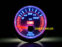 LED 7704-3 Тюнинговый автомобильный прибор Ket Gauge давление масла, фото 1