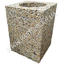 Урна для мусора «Куб» уличная бетонная, фото 2