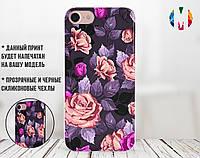Силиконовый чехол для Xiaomi Redmi 5 Plus Розы с фиолетовыми листьями (31046-3017)