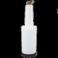 Бутылка пластиковая 9х33см/1л для дрессинга и флейринга с гейзером FoREST