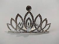 Діадема (корона, тіара) на гребінці, довжина 6,5 см, висота 3,7 см, фото 1