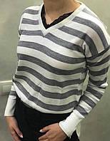 Женский вязаный свитер. S- L Размер.