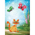 Квиллинг 3D «Кот с бабочками», фото 2