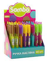"""Ручка масляная автоматическая Leo 0.7 мм """"Samba"""" синяя"""