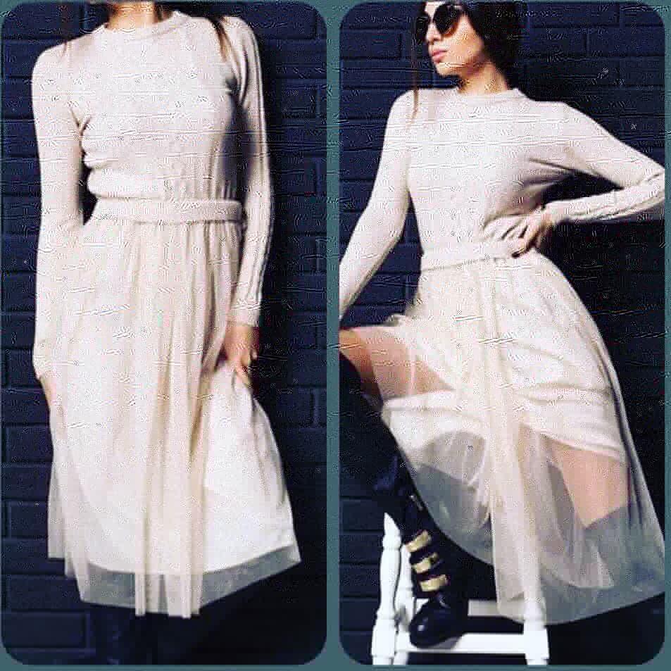 8f21e675cb00c93 Платье с юбкой из фатина беж, цена 719,10 грн., купить в Днепре ...