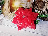 """Сувенирное/подарочное мыло для рук на Новый год/Рождество """"Пуансетия/Рождественник"""""""