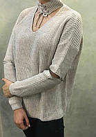 Жіночий в'язаний светр.( Довжина - 68 см). S - L Розмір.