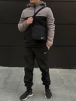 Спортивный  костюм Nike (анорак+утепленные штаны, БАРСЕТКА В ПОДАРОК), (Реплика ААА)
