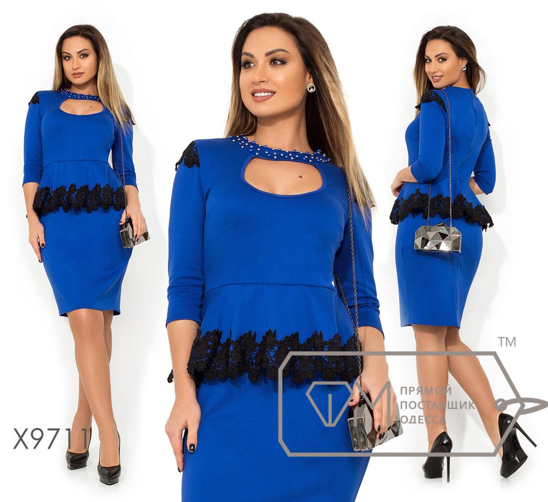539c2675d61 Платье из французского трикотажа с баской