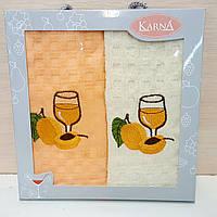 Кухонные полотенца Вафельные (ТМ KARNA)  45*65 (2шт.) Турция
