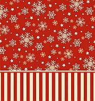 Новогодний пакет подарочный бумажный квадрат 23х24х10 (24-140)