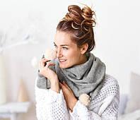 Шикарный вязаный шарф шаль Tсм Tchibo