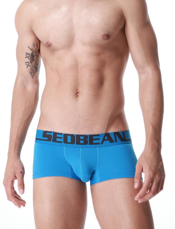 Трусы мужские боксеры Seobean голубого цвета. Код:SB12