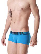 Трусы мужские боксеры Seobean голубого цвета. Код:SB12, фото 3