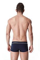 Мужские БОКСЕРЫ, мини - шорты Seobean, боксерки темно- синие, ХЛОПОК, чоловічі труси боксери, фото 3