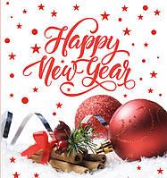 Новогодний пакет подарочный бумажный квадрат 23х24х10 (24-141)