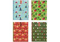 """Блокнот """"Christmas""""  А5, пластиковая полноцветная обложка, боковая пластиковая спираль, 48 листов, б"""