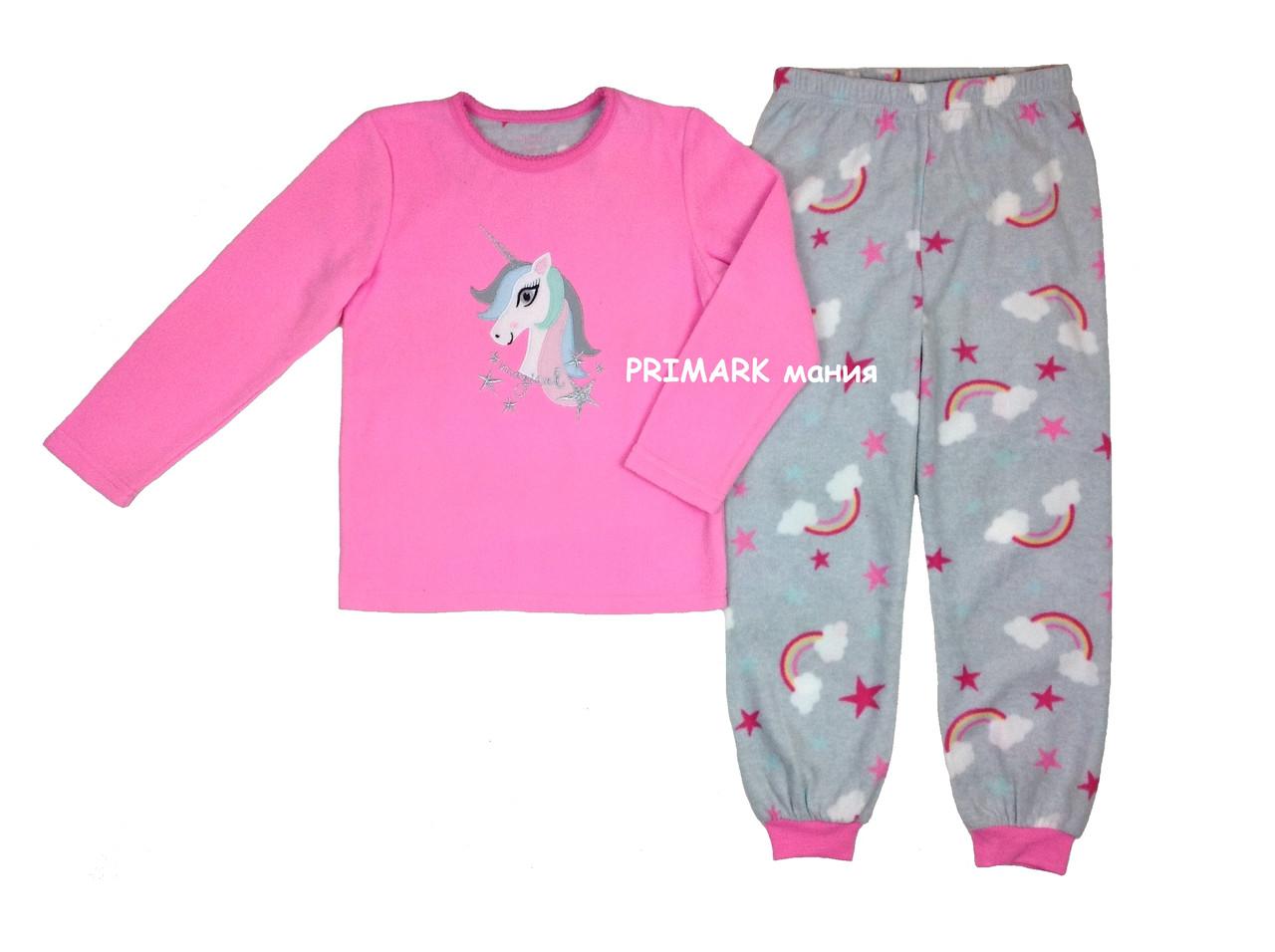 Флисовая пижама для девочки Единорог Primark  продажа e4b47c0615b14