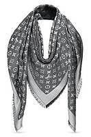 """Женский платок с люрексом Louis Vuitton  Monogram """"Gray""""  (в стиле Луи Витон)"""