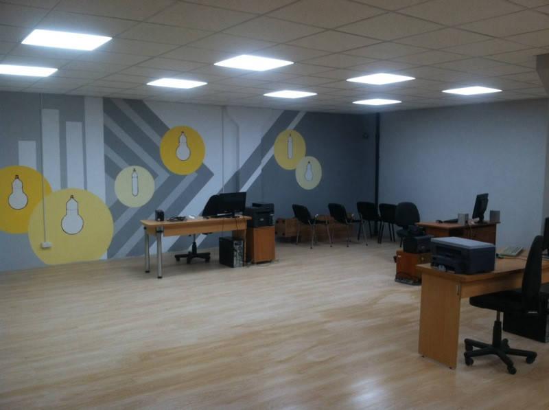 Освещение офиса светодиодными светильниками КОМФОРТ