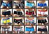Мужские БОКСЕРЫ, мини - шорты Seobean, боксерки синие в полоску, ХЛОПОК, чоловічі труси боксери, , фото 3
