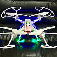 Квадрокоптер Shark-31 см, WIFI, HD камера, 3D трюки, подсветка