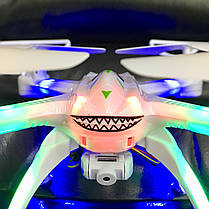 Квадрокоптер Shark-31 см, WIFI, HD камера, 3D трюки, подсветка, фото 2