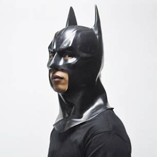 Маска Бетмен (Бэтмен) взрослая латекс, резиновый шлем batmen, фото 2