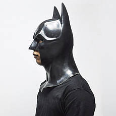 Маска Бетмен (Бэтмен) взрослая латекс, резиновый шлем batmen, фото 3