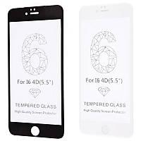 Защитное стекло FULL SCREEN 4D 360 iPhone 6 Plus/6s Plus без упаковки (Black)