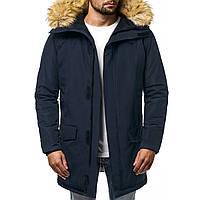 Куртка-парка (плащ) мужская зимняя (синяя)
