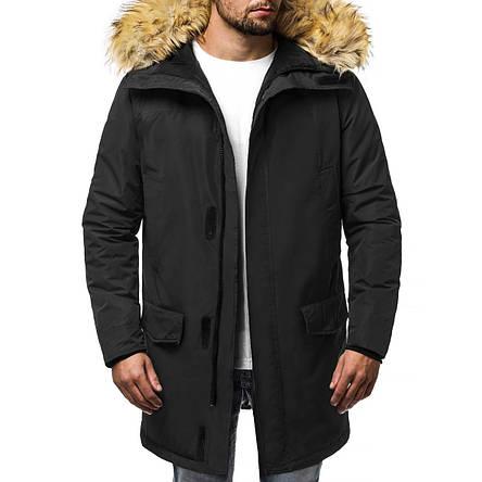 Куртка-парка (плащ) мужская зимняя (черная), фото 2