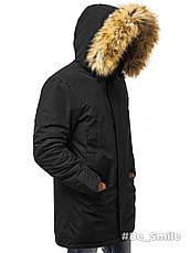 Куртка-парка (плащ) мужская зимняя (черная), фото 3