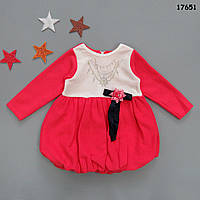 Теплое флисовое платье для девочки. 1, 2, 3 года, фото 1