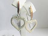 """Сережки срібні з золотом Валентин""""Ел"""", фото 2"""