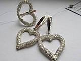"""Сережки срібні з золотом Валентин""""Ел"""", фото 3"""