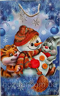Новогодний пакет подарочный бумажный гигант 30х45х12 (39-017)