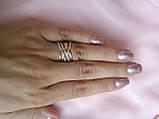 """Кільце срібне з золотом Орбіта """"М"""", фото 3"""